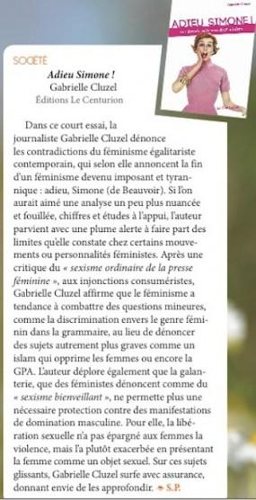 recension de Zélie mai 2016