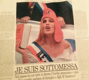 Tribune parue en italien dans le quotidien Il FOGLIO.