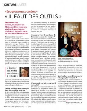 Eduquer par le cinéma France Catholique Aymeric Pourbaix
